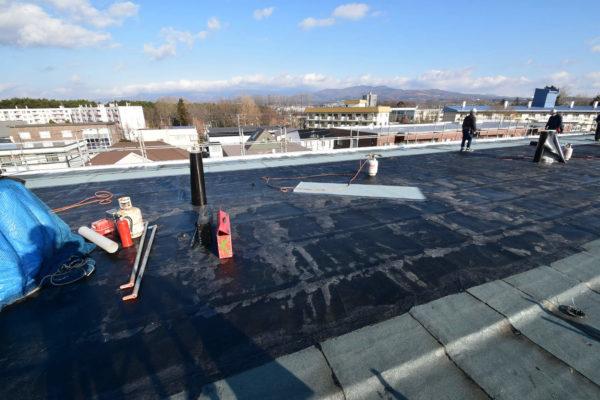 マンションの屋上防水施工